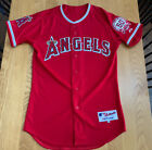 2011 Los Angeles Angels Authentic Majestic Home Red Jersey Size 40 Trout Rare