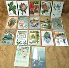 41 antique CHRISTMAS postcard lot from 1907 1911 All but 5 are embossed