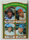 Fergie Jenkins, Chicago Cubs, CERTIFIED AUTOGRAPH.1972 Topps 4 of 100 W COA