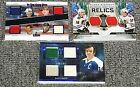 2020-21 LEAF IN THE GAME USED HOCKEY & BLACK DIAMOND RELICS 3 DIFF JSY CARDS
