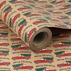 Christmas Wrapping PaperKraft Paper Car and Tree Design 24 inches x 100 feet