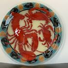 Peggy Karr Fused Glass Shellfish Plate Lobster Crabs