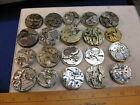 lot of 20 vintage pocket watch movements parts Altered Art Steampunk
