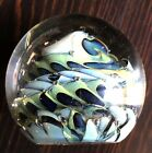 Vintage hand blown controlled bubble paperweight signed 1988 Blacksheep Glass
