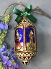 Waterford Holiday Heirlooms Nativity Ornament 6 RARE Jesus Mary Wisemen