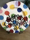 Coton Colors HAPPY EVERYTHING Colorful Polka Dots 16 3 8 LARGE Platter Tray