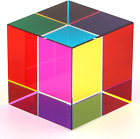 ZhuoChiMall CMY Color Cube 2 inch 50 mm Crystal Glass Prism 50mm