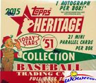 2015 Topps Heritage Baseball 51 Collection Factory Sealed HOBBY Box-AUTOGRAPH!