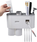Bathroom Toothbrush Holder Wall Mounted Automatic Toothpaste Dispenser Squeezer