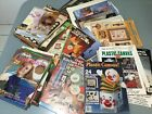 1980s 90s 65+Leaflets Magazines Plastic Canvas CROSS STITCH EMBROIDERED etc