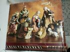 Holiday Home Accent Large 9 Piece Porcelain Nativity Scene Set Christmas Display