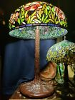 Quoizel 33 BY 20 LARGE stained glass art lamp tiffany style