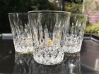 3 Mikasa Crystal Old Dublin Double Old Fashioned Glass Germany Vertical Cut