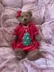 pfaltzgraff christmas heritage Teddy Bear  Rare And New In Box