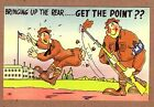 GET THE POINT VINTAGE WW2 GI POSTCARD