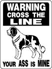 ST BERNARD DOG WARNING Aluminum Sign Dog Decal V2846
