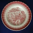 Spode Mandarin Pink Tower scalloped edge Luncheon Plate