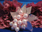 LEAF SEQUIN BEADED FAUX PEARLED FLOWER 0949 S2