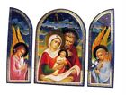 Christmas HOLY FAMILY Russian IconWood NATIVITY CHRIST