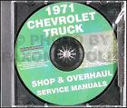 1971 Chevrolet Truck Overhaul and Shop Manual CD Pickup Suburban Blazer Cheyenne
