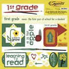 SCRAPPIN SPORTS SCHOOL FIRST 1ST GRADE 12 X 12 CARDSTOCK SCRAPBOOK STICKERS