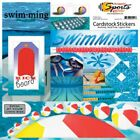 SCRAPPIN SPORTS MORE SWIMMING POOL SWIM TEAM 12 X 12 SCRAPBOOK STICKERS