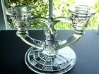 Indiana Glass Double Light Crystal Candlestick