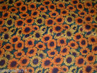 SPRING OR FALL HARVEST MEDIUM SUNFLOWER SUNFLOWERS PRINT 100 COTTON FABRIC