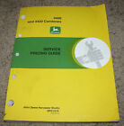 John Deere 4400 4420 Combine Service Price Guide Flat Rate Manual