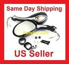 UNIVERSAL REAR View MIRRORs with Turn Signals 150cc 250cc SCOOTERS
