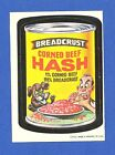 1973 Topps Original Wacky Packages 1st Series Breadcrust Hash glossy white back