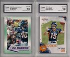 2 LOT 2010 SCORE TIM TEBOW & 2002 ROOKIE REVIEW ELI MANNING ROOKIE CARD MINT 10