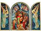 Nativity of Christ Scene Russian Icon Orthodox Catholic Triptych Christmas Gift