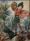 THE PINE TREE FAIRY Christmas Fabric Panel Quilt Block Square  100 Cotton