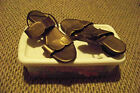 womens cabrizi dot copper strappy wedge sandals shoes size 9