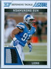 NDAMUKONG SUH 2011 SCORE GAME USED JERSEY PATCH SP