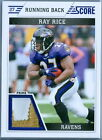 RAY RICE 2011 SCORE GAME USED JERSEY PATCH SP