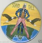 BARACK OBAMA 2012 BUTTON PINBACK UNCLE SAM EAGLES STAND TALL FOR OBAMA 2 INCH