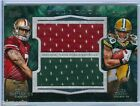 COLIN KAEPERNICK ALEX GREEN 2011 INCEPTION RC ROOKIE DUAL JUMBO JERSEY SP 15