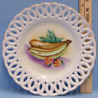 Vintage Made in Japan Collectors Display Plate Hanging Banana & Strawberry Fruit