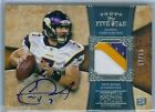CHRISTIAN PONDER 2011 TOPPS FIVE STAR RC ROOKIE PATCH AUTO AUTOGRAPH SP 65