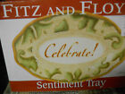 Fitz and Floyd Snowmen CELEBRATE Sentiment Tray NEW IN BOX