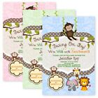 Jungle Baby Shower Invitations Swinging Monkey Giraffe Lion Elephant Custom Card