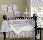UNIQUE DISCOUNT PURPLE DRAGONFLY BABY GIRL DESIGNER CRIB BEDDING COMFORTER SET