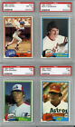 1981 Topps lot of 12 PSA graded cards 8 # 537 7 # 65 267 411 466 561 601 706