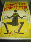 SHOOT THE PIANO PLAYER ORIG US ONE SHEET MOVIE POSTER  FRANCOIS TRUFFAUT