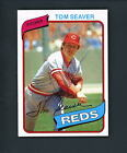 1980 Topps SIGNED Autographed # 500 Tom Seaver Reds