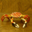 Jeweled Kubla Crafts Trinket Box #KC3415 ARTICULATED CRAB, NEW from Retail Store