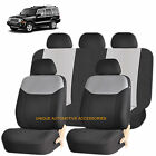 GRAY ELEGANT FRONT  BACK SEAT COVERS for JEEP COMMANDER COMPASS