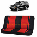 RED BLACK POLY MESH NET 2PC SPLIT BENCH SEAT COVER for JEEP COMPASS CHEROKEE